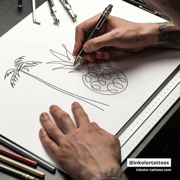 Simple lines - Pack de 3 tattoos