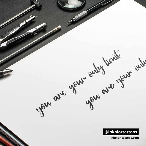 You are your only limit - Pack de 3 tattoos