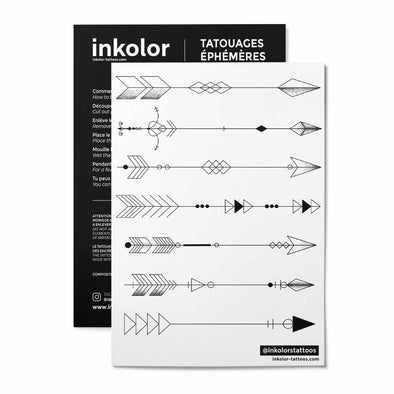 Flèches minimalistes - Pack de 3 tattoos