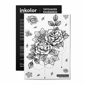 Grande rose - Pack de 3 tattoos