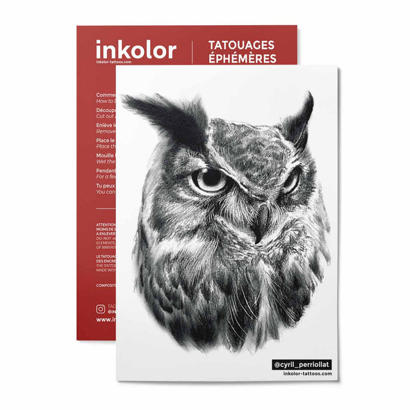 Hiboux @cyril_perriollat - Pack de 2 tattoos