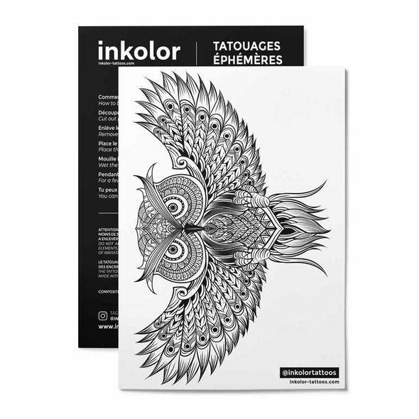 Hiboux - Pack de 2 tattoos