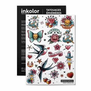 Planche hipster couleur - Pack de 2 tattoos