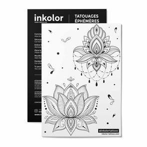 Planche 2 lotus - Pack de 3 tattoos