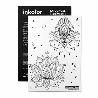 Planche 2 lotus - Pack de 2 tattoos