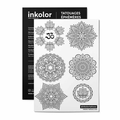 Planche 6 lotus - Pack de 3 tattoos