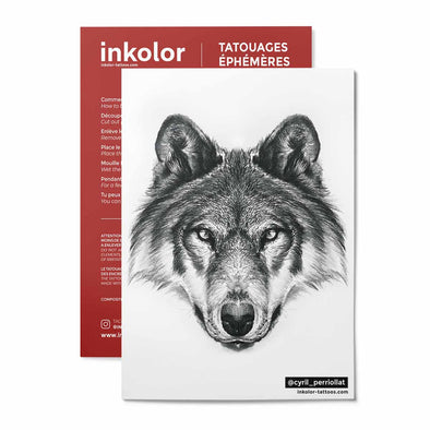 Loup @cyril_perriollat - Pack de 3 tattoos