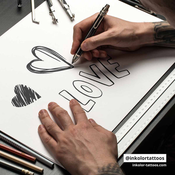 Love - Pack de 2 tattoos