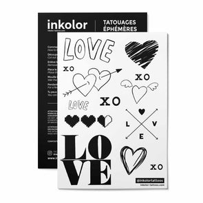 Love - Pack de 3 tattoos