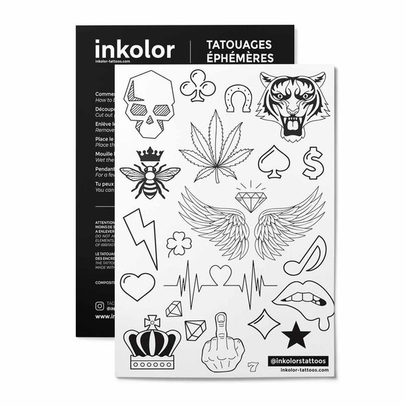 Planche party - Pack de 3 tattoos