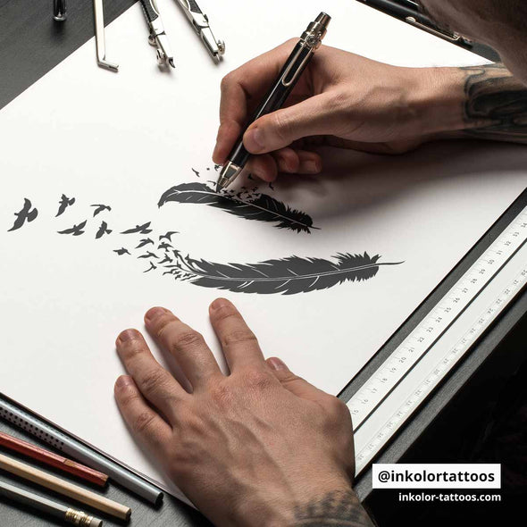 Plumes - Pack de 2 tattoos