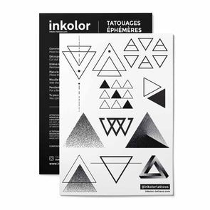 Triangles minimalistes - Pack de 2 tattoos