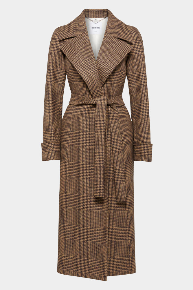 Alessia Coat - Camel & Brown Large Multi