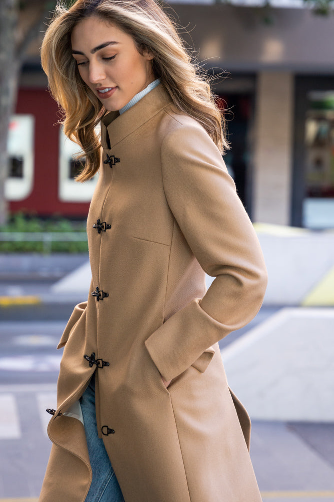 Chiara (Long) Coat - Camel