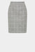 Aria Skirt - Grey Window Check