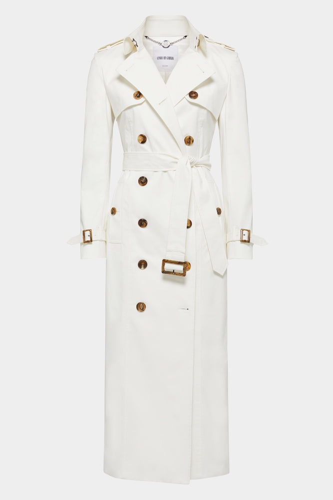 Martina (Long) Trench Coat - White