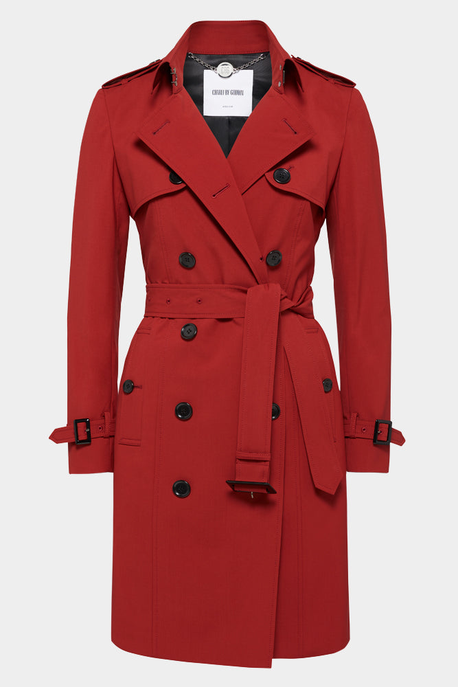 Martina (Mid) Trench Coat - Red