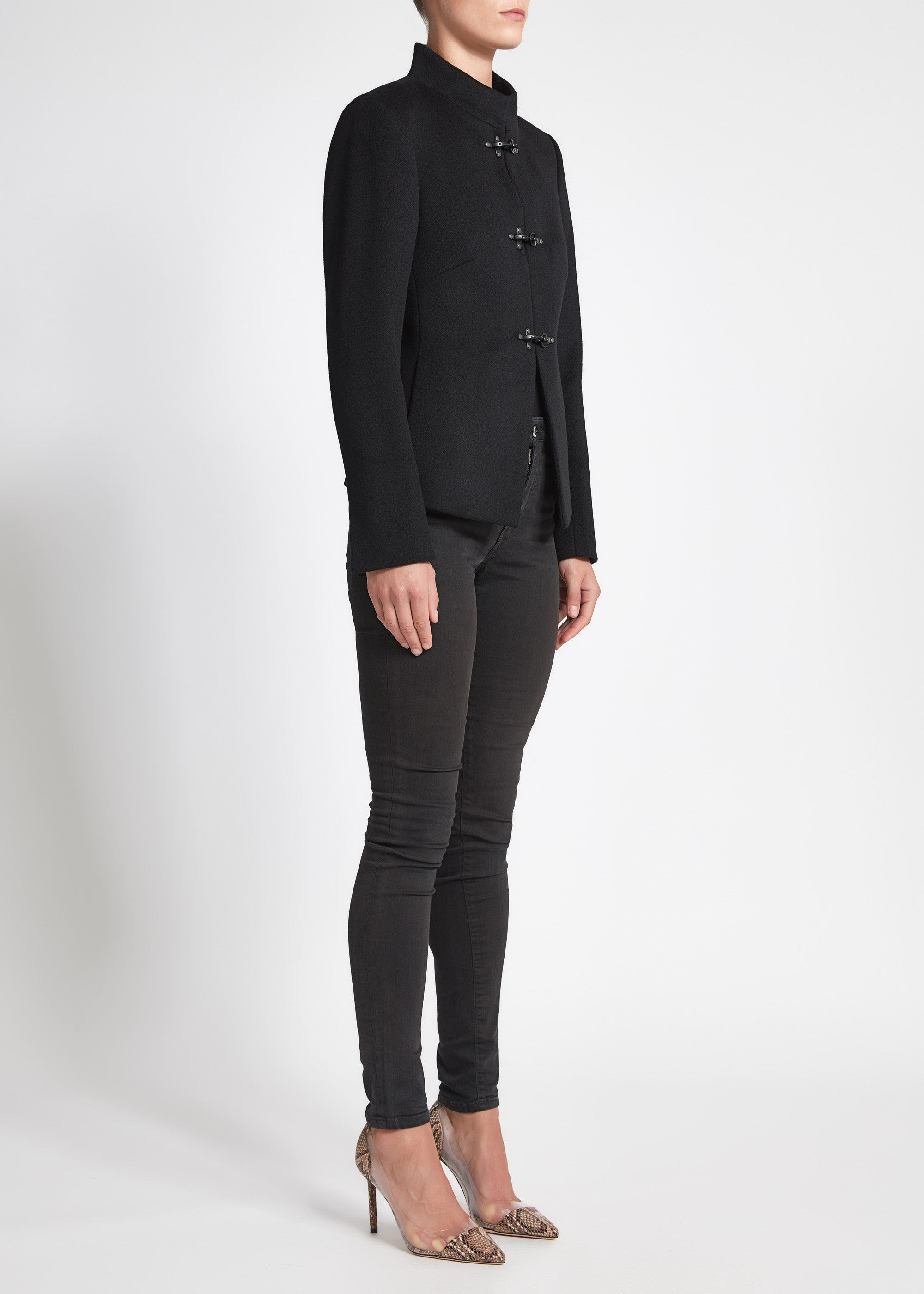 Chiara (Crop) Coat - Black