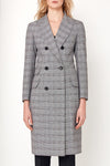 Sofia Coat - Grey White Red Check