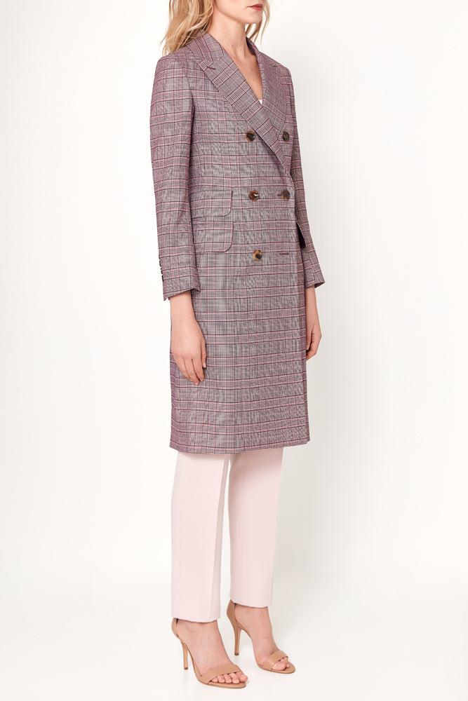 Sofia Coat - Purple Pink Check