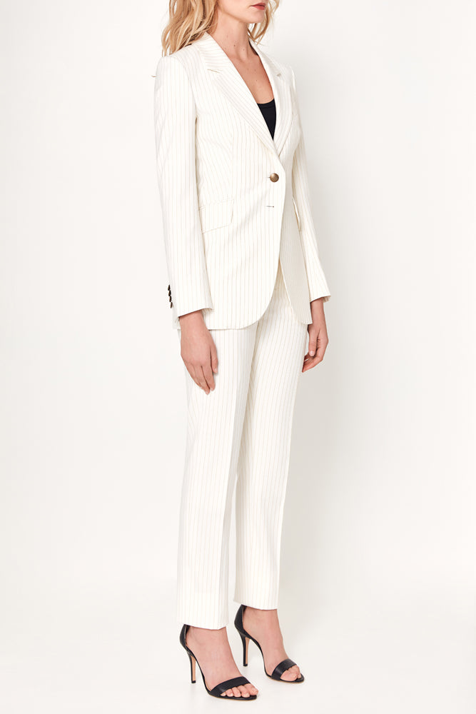 Lucia Jacket - White With Gold