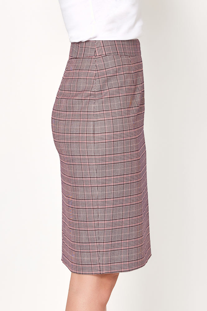 Aria Skirt - Purple Pink Check