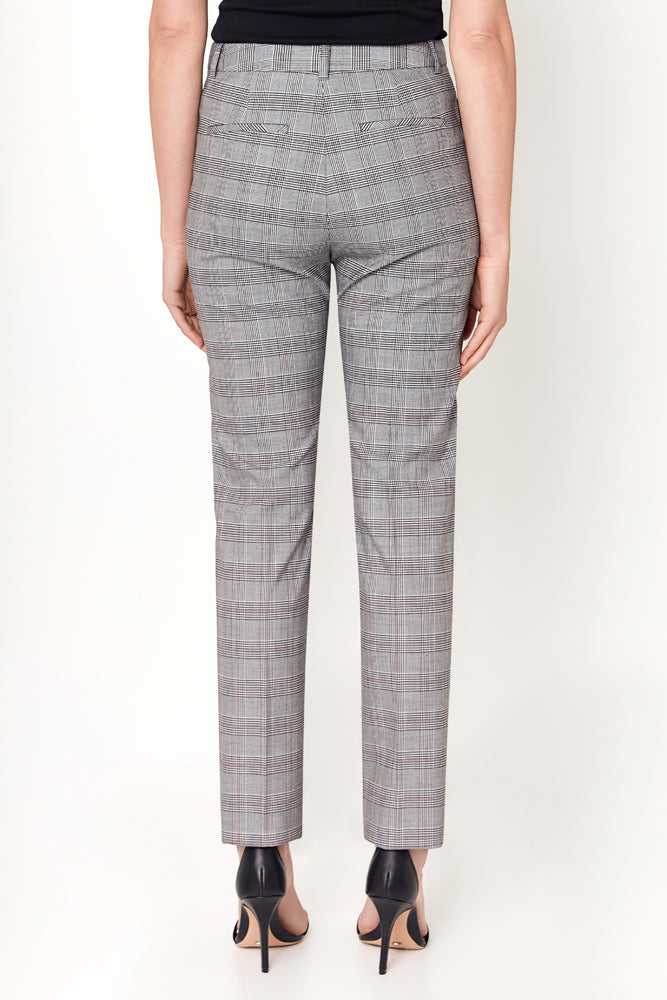 Ruby Pant - Grey White Red Check