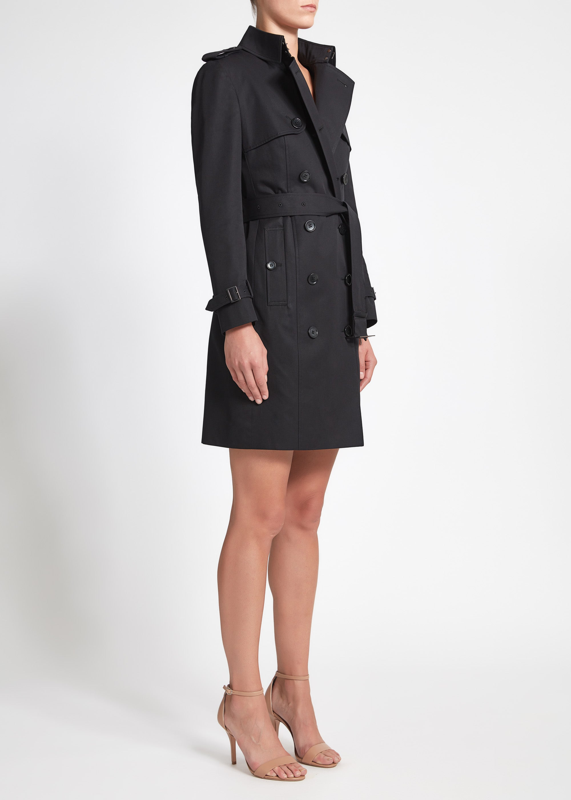 Martina (Mid) Trench Coat - Black