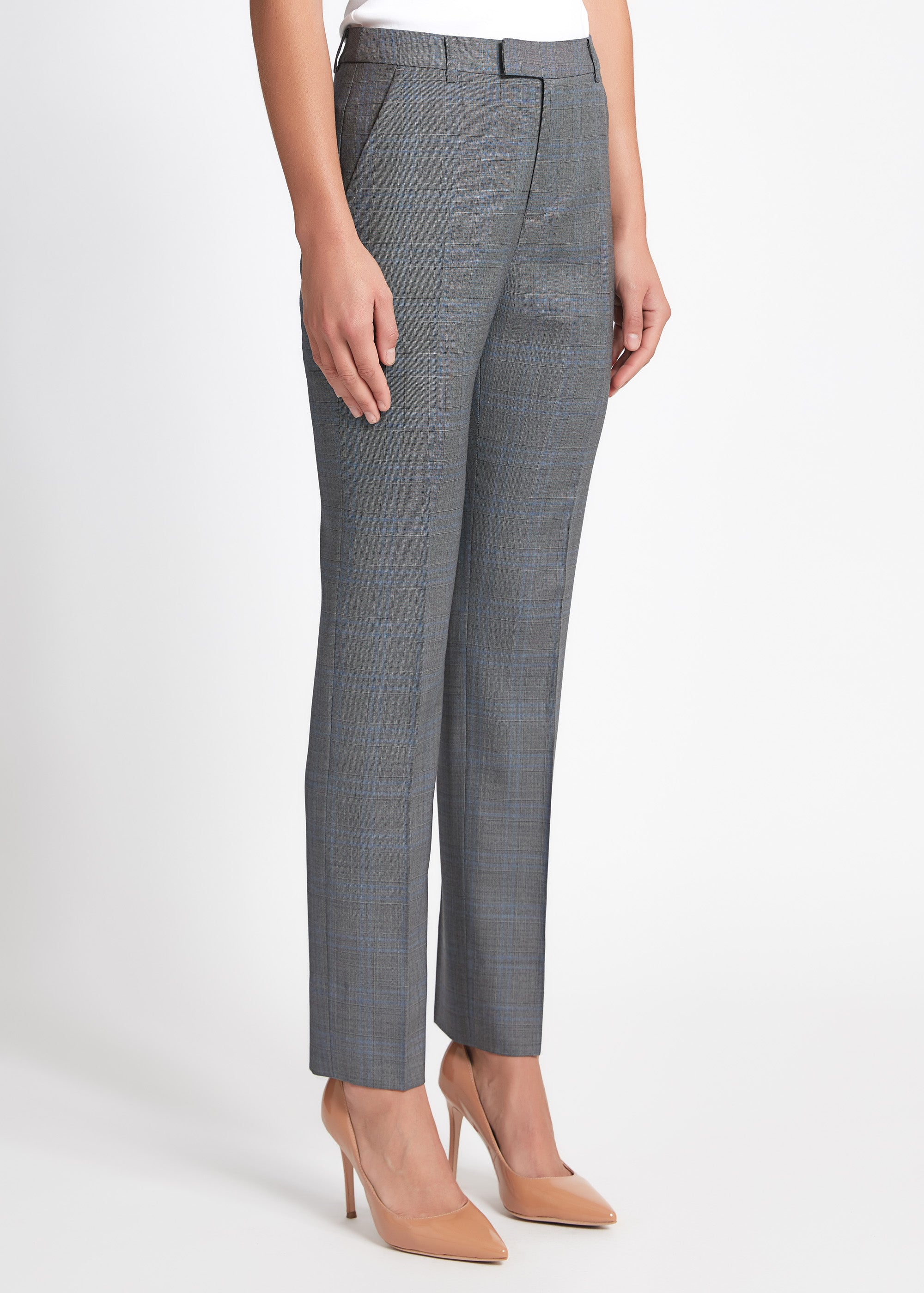 Ruby Pant - Grey Blue Check