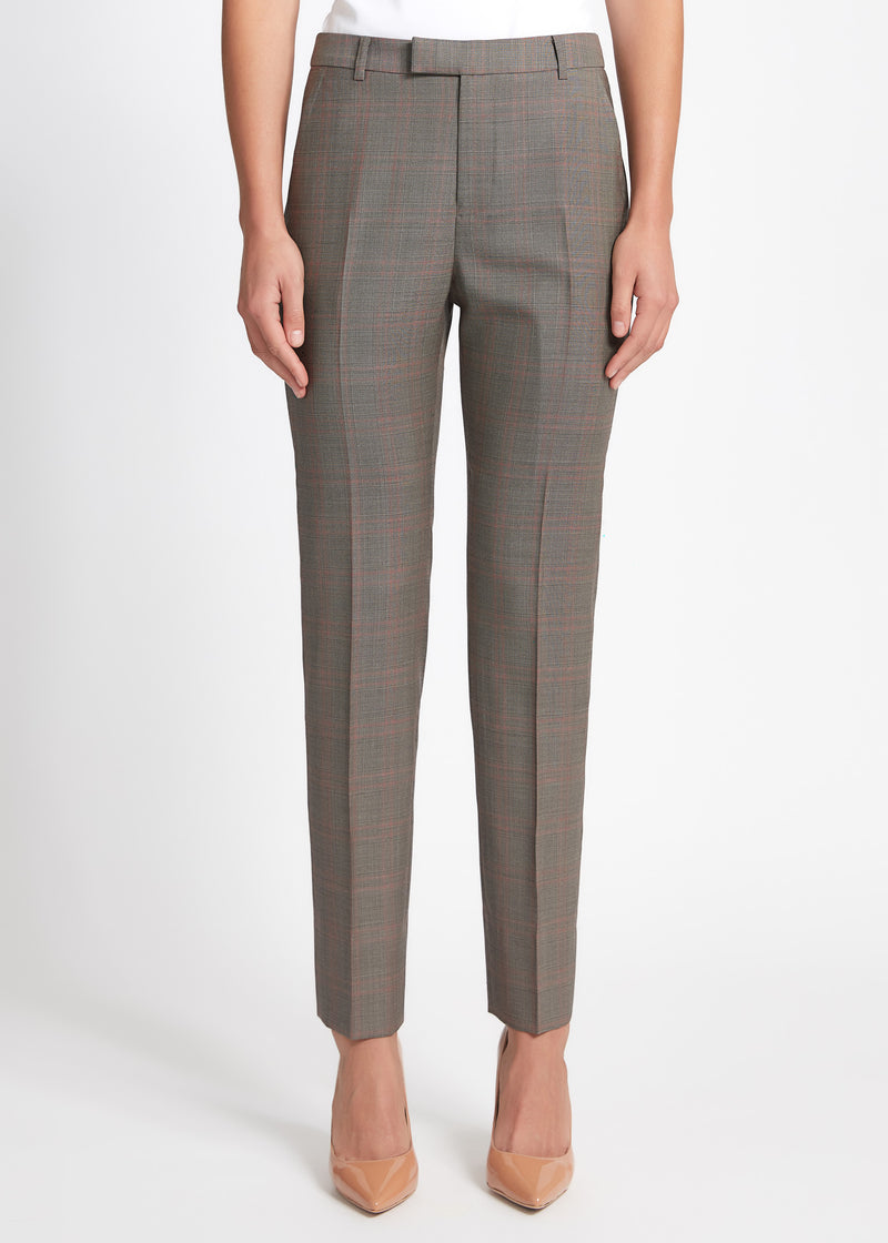 Ruby Pant - Walnut Red Check