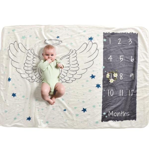 Angel Milestone Blanket