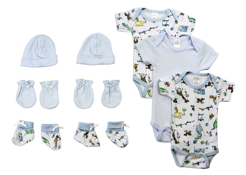 Newborn Baby Boys 5 Pc Layette Baby Shower Gift