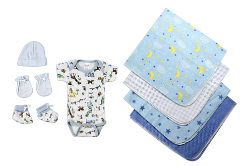 Newborn Baby Boys 8 Pc Layette Baby Shower Gift