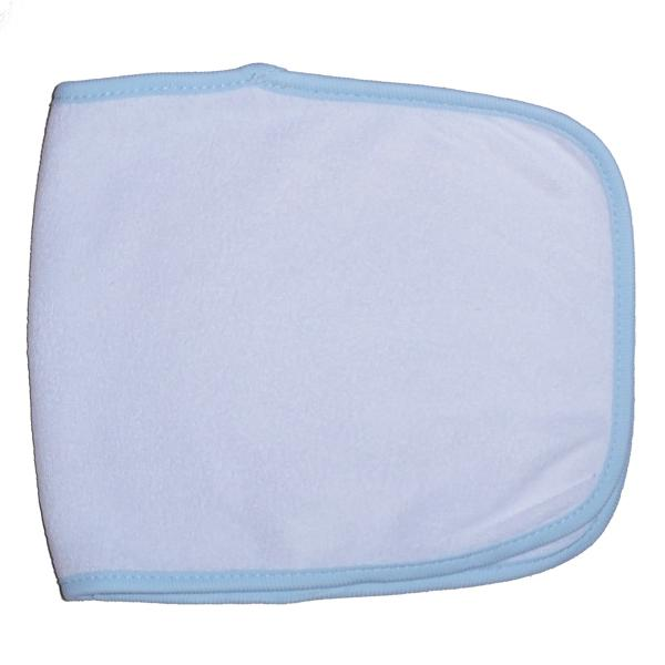 Terry Burpcloth with Blue Trim One Size