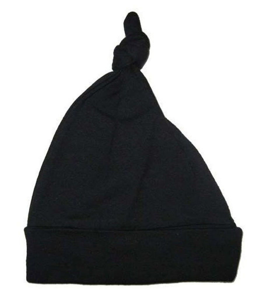 Black Knotted Baby Cap One Size