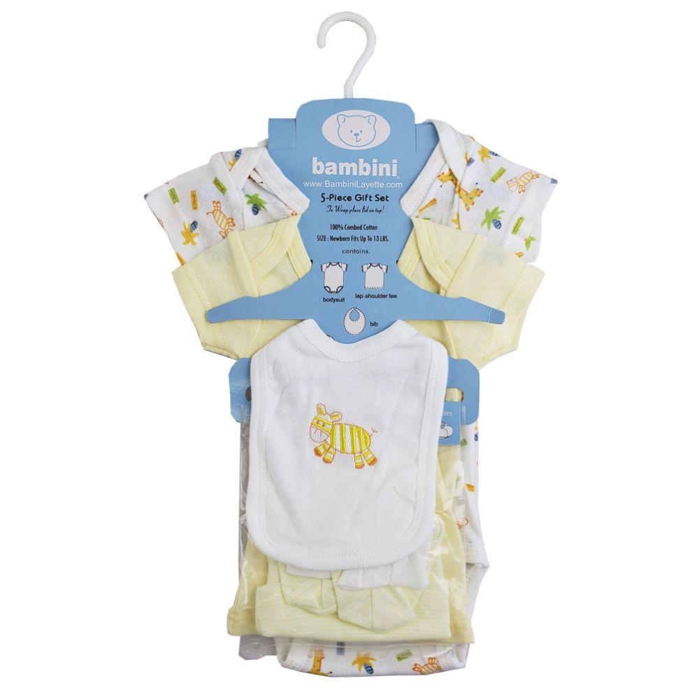 5-Piece Pastel Interlock Hanging Gift Set Newborn