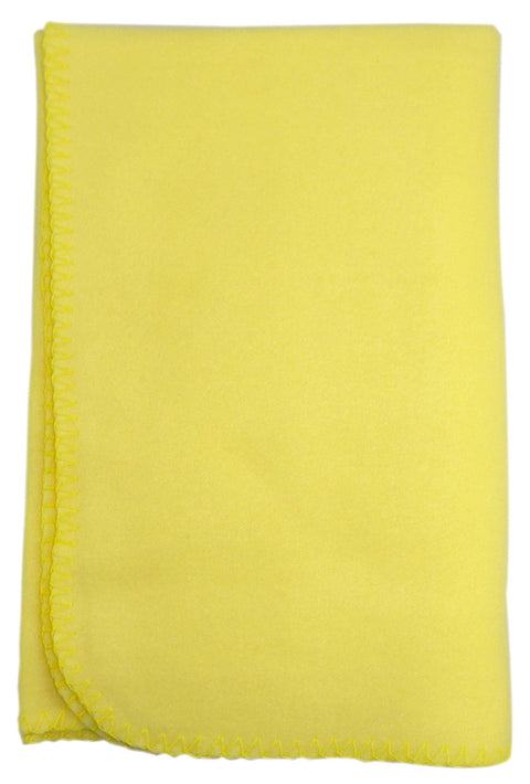 Blank Yellow Polarfleece Blanket 30x40