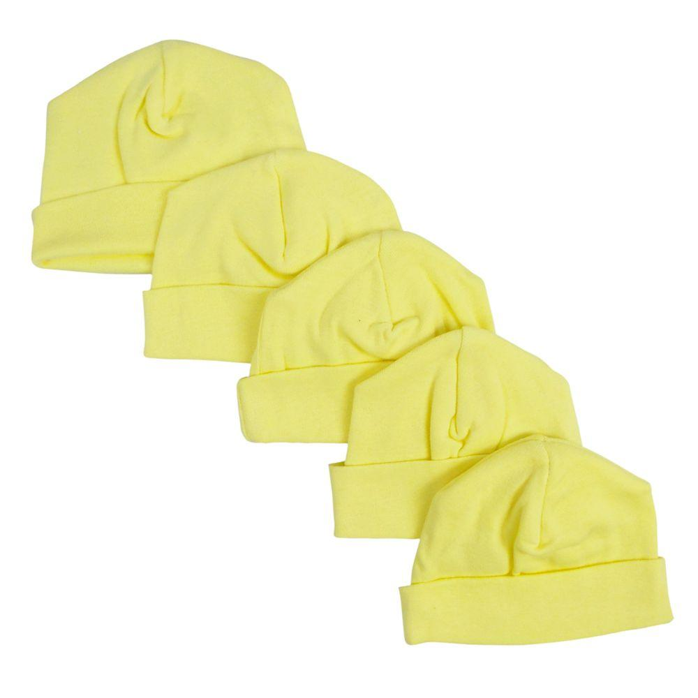 Yellow Baby Cap (Pack of 5) One Size