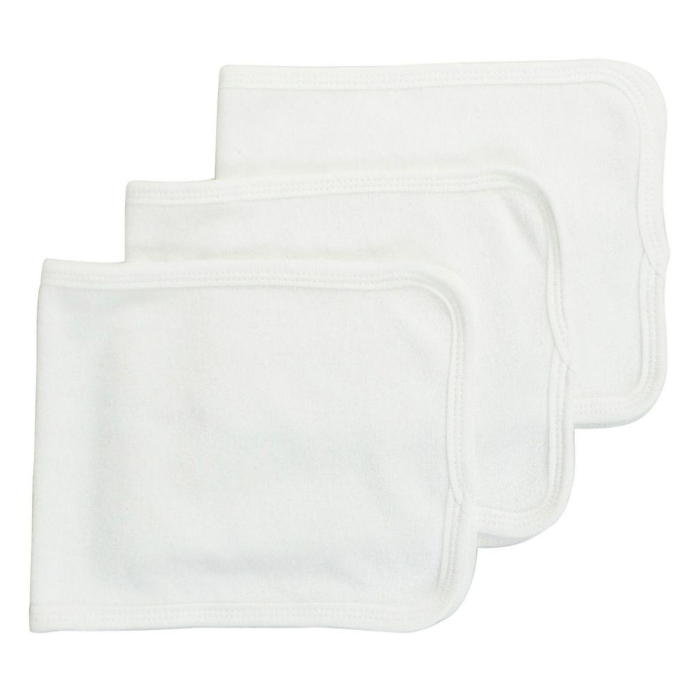 Baby Burpcloth With White Trim (Pack of 3) One Size