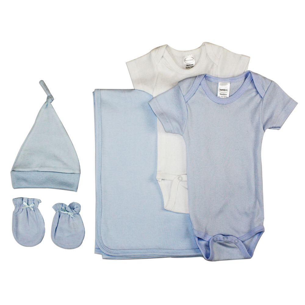 Newborn Baby Boy 5 Pc Layette Baby Shower Gift Set Newborn