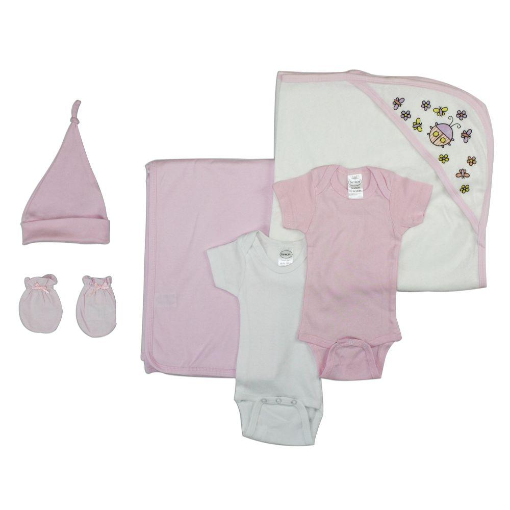 Newborn Baby Girl 6 Pc Layette Baby Shower Gift Set Newborn