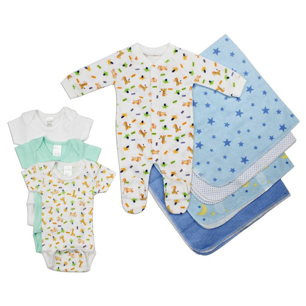 Newborn Baby Boy 8 Pc Layette Baby Shower Gift Set Newborn