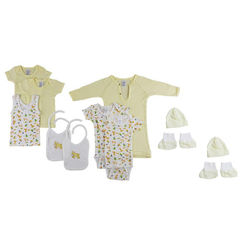 12-Piece Pastel Interlock Hanging Gift Set Newborn
