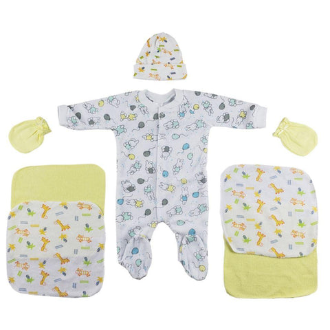 Sleep-n-Play, Cap, Mittens and Washcloths - 7 Pc Set Newborn