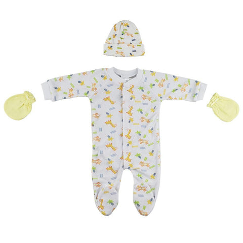 Sleep-n-Play, Cap and Mittens - 3 Pc Set Newborn