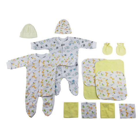Sleep-n-Plays, Caps, Mittens and Washcloths - 14 Pc Set Newborn