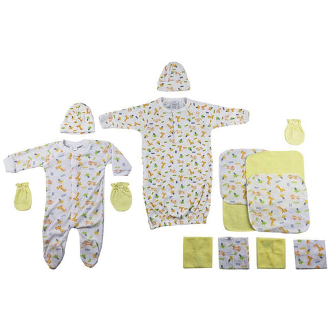 Sleep-n-Play, Gown, Caps, Mittens and Washcloths - 14 Pc Set Newborn