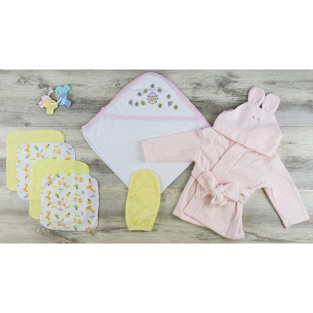 Hooded Towel, Wash Coths, Bath Mittens and Robe