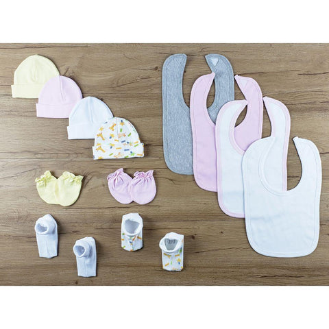 13 PC set of Bibs, Caps, Booties