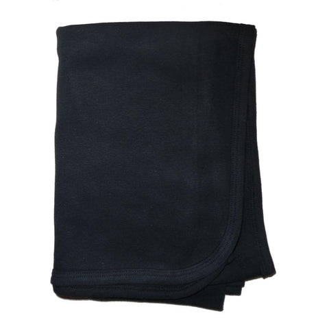 Black Interlock Receiving Blanket 30x40